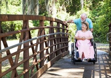 Wheelchair-couple-in-park